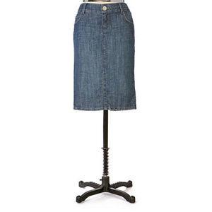 Anthropologie Level 99 Denim Pencil Skirt / 28